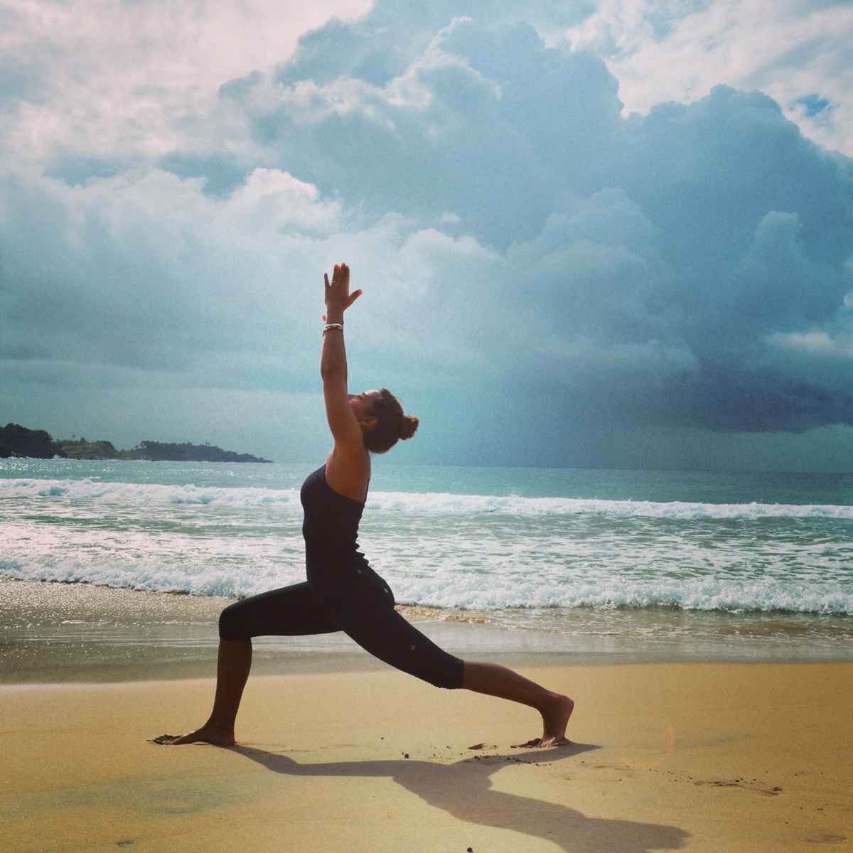 Beach Yoga Girl Training-girl-on-beach-sri
